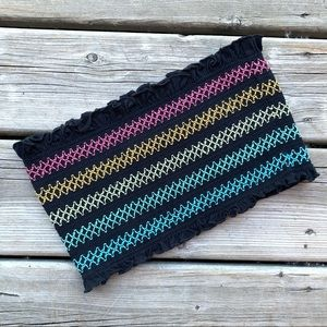 ✨3/$30 Harlow Tube Top Strapless Smocked Rainbow